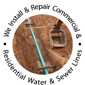We Install and Repair Water and Sewer Lines